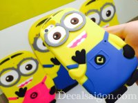 Silicon 3D Minions iPhone 4 5 6 6 PLUS