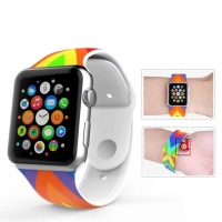 Dây Silicone Cờ Mỹ Anh Apple Watch Sport