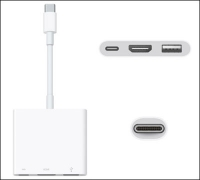 Hub USB-C adapter usb 3.0 HDMI Digital AV Multiport