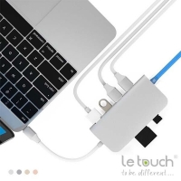 Adapter Le Touch USB-C 8 in 1 type-C Combo Hub