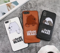 Ốp Gấu Bears Túi da cho Iphone 6 7 8 Plus Iphone X