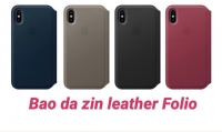 Bao Da Zin Leather Folio cho iPhone X