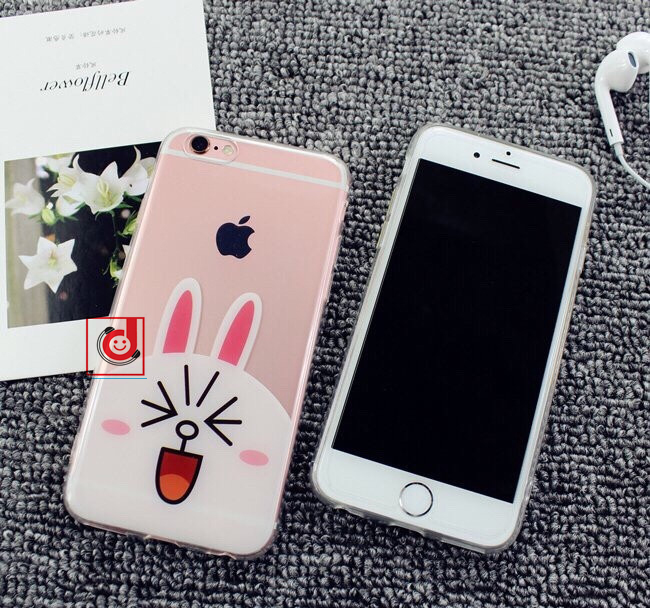 Ốp Gấu nâu & thỏ trắng cho iPhone - 154553