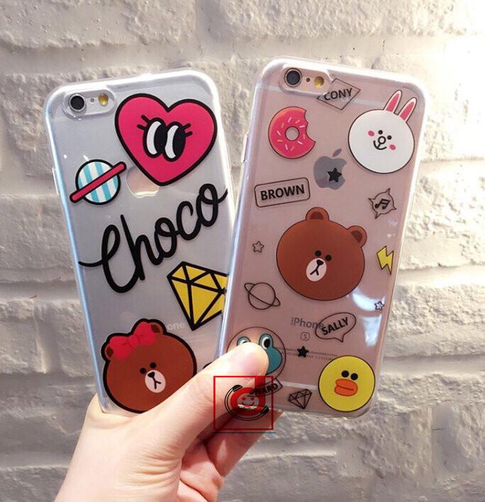 Ốp Gấu nâu & thỏ trắng cho iPhone - 154554