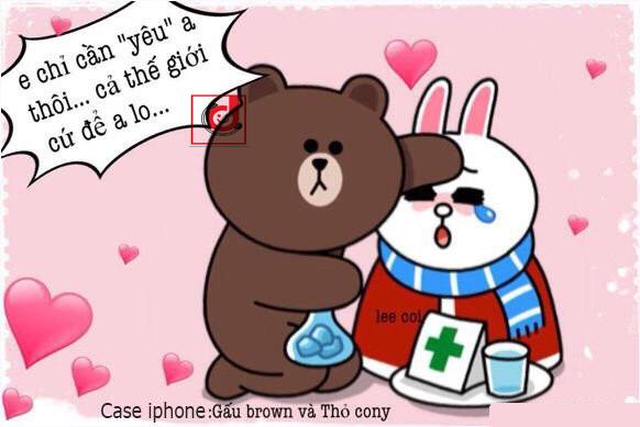Ốp Gấu nâu & thỏ trắng cho iPhone - 154556