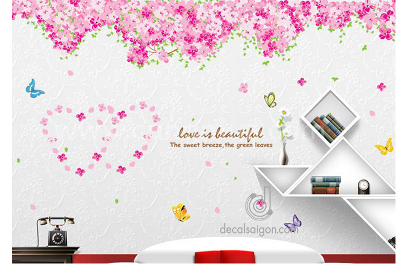 Decal dán tường trang trí phòng ngủ đẹp lung linh