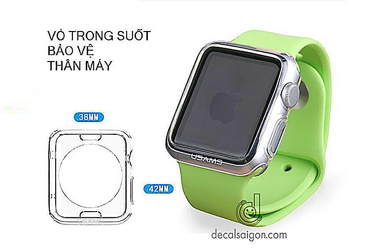 Case bao ve op cho apple watch silicon cao cap
